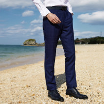 Western-style trousers J.D.V Business gentleman blue 165/68A/XS 170/72A/S 175/76A/M 180/80A/L 180/84A/XL 185/88A/XXL SPF9902 trousers Polyester fiber 79.7% viscose fiber (viscose fiber) 18.6% polyurethane elastic fiber (spandex) 1.7% Slim fit spring youth Spring of 2019 Pure e-commerce (online only)