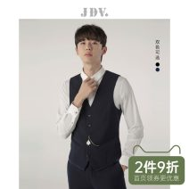Vest / vest Business gentleman J.D.V 180/100A 185/104A 165/84A 170/88A 175/92A 180/96A Dark blue black go to work Self cultivation Vest routine autumn youth Business Formal  WFV7877 Single breasted Slant hem other Thread embedding and bag digging Fall 2017 Pure e-commerce (online only)