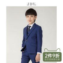 Suit / Blazer Royal blue suit royal blue bottom suit size pants size 110cm 120cm 130cm 140cm J.D.V male spring and autumn Solid color A button routine blending Class C Wool 94.5% polyester 5.5% SMM8T29 Spring of 2018 Five, six, seven, eight, nine, ten, eleven, twelve