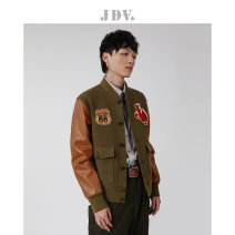 Jacket J.D.V Fashion City green 170/92B/S 175/96B/M 180/100B/L 180/104B/XL thick standard Other leisure autumn Long sleeves stand collar youth routine Single breasted Autumn 2020 Same model in shopping mall (sold online and offline) other