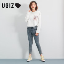 Jeans Spring 2020 S M L Ninth pants Natural waist Pencil pants routine 18-24 years old UGIZ Same model in shopping mall (sold online and offline)