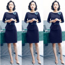 Professional dress suit Summer 2018 Short sleeve Suit skirt Other styles Q195 25-35 years old SW Polyester 100% Pure e-commerce (online sales only) One piece dress 3 / 4 sleeve dress suit + dress S M L XL XXL XXXL