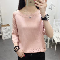 T-shirt Purple red blue yellow black pink off white Khaki S M L XL Summer of 2019 three quarter sleeve Crew neck easy Regular routine commute other 96% and above 25-29 years old Korean version Flower rain soft HYR-10024 Other 100% Pure e-commerce (online only)