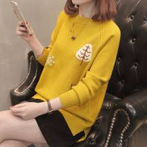 Wool knitwear Spring of 2019 S M L XL Black red yellow off white light coffee Long sleeves other More than 95% Regular routine commute easy Low crew neck routine Animal design Socket JD-6713 Flower rain soft Other 100% Pure e-commerce (online only)