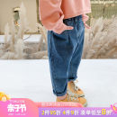 trousers Tongsen Tongma female 90cm 100cm 110cm 120cm 130cm 140cm Single layer Plush spring and autumn trousers leisure time There are models in the real shooting Jeans Leather belt middle-waisted Denim Don't open the crotch Other 100% XP1032 Class B Spring 2020