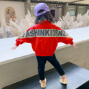 Plain coat Tongsen Tongma female 90cm 100cm 110cm 120cm 130cm 140cm Red pink blue spring and autumn leisure time Zipper shirt There are models in the real shooting routine nothing Solid color other Crew neck XP1038 Polyamide fiber (nylon) 100% Class B Spring 2021