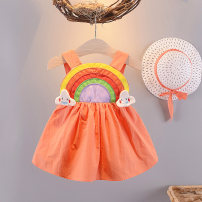 Dress Orange (for hat) red (for hat) yellow (for hat) female Shapeshift house 66cm 73cm 80cm 90cm 100cm 110cm 5% polyester cotton 94 summer princess Skirt / vest Cartoon animation cotton A-line skirt 20xz0313 Class A Summer 2020 Chinese Mainland Zhejiang Province Huzhou City