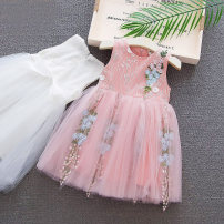 Dress White pink female Shapeshift house Cotton 94.5% others 5.5% summer Korean version Skirt / vest other cotton Lotus leaf edge Class A Summer 2020 Chinese Mainland Zhejiang Province Huzhou City