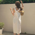Dress Spring 2021 White, black Average size singleton  Sleeveless commute Solid color Other / other Korean version other