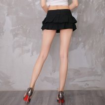 skirt Summer of 2018 S,M,L,XL,2XL White, black, 859 white Miniskirt Versatile low-waisted Ruffle Skirt Solid color Type A 18-24 years old 31% (inclusive) - 50% (inclusive) Chiffon cotton Inlaid diamond, three-dimensional decoration, nail bead, Sequin, zipper, splicing