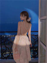 Dress Summer 2021 Graph color S Mid length dress singleton  Sleeveless commute other High waist Solid color Socket Irregular skirt other camisole 18-24 years old Type A Other / other Korean version 31% (inclusive) - 50% (inclusive) other other
