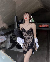Dress Spring 2021 black S,M,L Short skirt singleton  Sleeveless commute other High waist other Socket One pace skirt other camisole 18-24 years old Type A Other / other Korean version 31% (inclusive) - 50% (inclusive) Lace polyester fiber