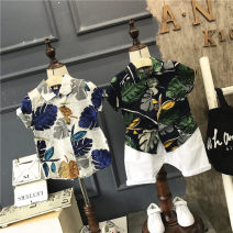 shirt White shirt a860002, black shirt a860002, 2 sets of black shirt, 2 sets of white shirt, white shorts with rope Other / other male summer Short sleeve Europe and America Broken flowers cotton Lapel crew neck Cotton 100% A860002/A12132 other