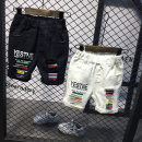 trousers Anchaopin male White, black summer shorts Korean version Casual pants Leather belt High waist C9541 Class B 9 months, 18 months, 2 years old, 3 years old, 4 years old, 5 years old, 6 years old, 7 years old