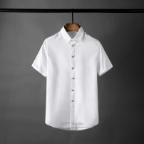 shirt Fashion City SUNBOLIVE 38 50~59KG,40 59~65KG,42 65~72KG,44 72~78KG,46 78~83KG,48 83~88KG White, black, blue, navy routine Button collar Short sleeve Self cultivation daily summer XY-190009 Business Formal  Solid color cotton Button decoration