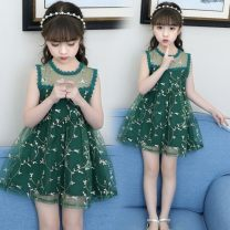 Dress Green, pink female Other / other 110 (recommended height 95-105cm), 120 (recommended height 105-115cm), 130 (recommended height 115-125cm), 140 (recommended height 125-135cm), 150 (recommended height 135-145cm), 160 (recommended height 145-160cm) Polyester 95% cotton 5% summer princess cotton
