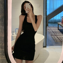 Dress Summer 2021 White, black S,M,L Middle-skirt singleton  Sleeveless commute square neck High waist Solid color Socket One pace skirt camisole Type H backless 31% (inclusive) - 50% (inclusive) other other