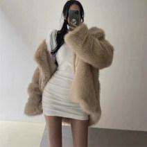 Dress Winter 2020 White, black S,M,L Short skirt singleton  Long sleeves commute Crew neck High waist Solid color Socket other routine Hanging neck style 25-29 years old Type A Korean version fold More than 95% other other