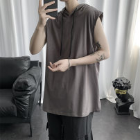 T-shirt Youth fashion Gray, black routine S,M,L,XL,2XL Others Sleeveless Hood easy Other leisure summer teenagers routine tide 2020