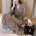 Dress Spring 2021 Picture color S. M, l, XL, 2XL, XXXs pre-sale Mid length dress singleton  Long sleeves commute V-neck middle-waisted Decor Socket routine Other / other Korean version 81% (inclusive) - 90% (inclusive)