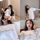 T-shirt white M. L, XL, 2XL, XXS pre-sale Summer 2020 Short sleeve Crew neck easy Regular routine commute cotton 96% and above 18-24 years old Korean version youth letter Other / other
