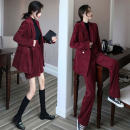 Fashion suit Winter of 2019 S,M,L,XL Two pieces of jacket and skirt, two pieces of jacket and trousers 18-25 years old Other / other 91% (inclusive) - 95% (inclusive)