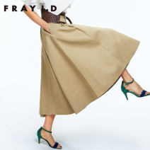 skirt Spring of 2018 01 Beige green Khaki Mid length dress Natural waist FWFS181076 51% (inclusive) - 70% (inclusive) FRAY I.D polyester fiber Polyester 65% cotton 35%
