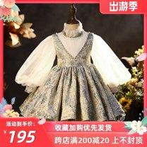 Children's dress Decor female 80cm,90cm,100cm,110cm,120cm,130cm,140cm,150cm Other / other Wedding dress Class B polyester 12 months, 9 months, 18 months, 2 years old, 3 years old, 4 years old, 5 years old, 6 years old, 7 years old, 8 years old, 9 years old, 10 years old, 11 years old princess