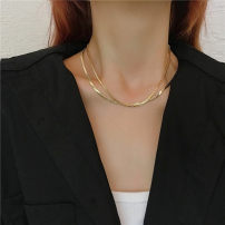 Necklace Alloy / silver / gold RMB 1.00-9.99 Other / other brand new Japan and South Korea female goods in stock no Fresh out of the oven 21cm (inclusive) - 50cm (inclusive) yes Below 10 cm Not inlaid alloy other Water wave chain