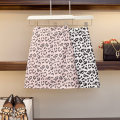 Women's large Summer 2021 White, pink Large XL, m, 2XL, 3XL skirt singleton  commute easy moderate Leopard Print Korean version Three dimensional cutting 25-29 years old zipper 71% (inclusive) - 80% (inclusive) Short skirt