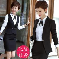 Professional dress suit S,M,L,XL,XXL,XXXL,4XL,5XL Winter 2017 Long sleeves Shirt, coat Suit skirt