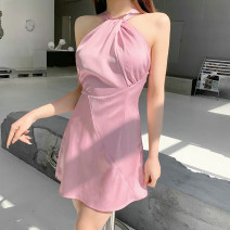Dress Spring 2021 Black, red, pink S,M,L Short skirt singleton  Sleeveless street other High waist Solid color other A-line skirt other Hanging neck style 18-24 years old Type A INSGOTH Open back, fold, neck 25555P 81% (inclusive) - 90% (inclusive) other other Europe and America