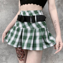 skirt Winter 2020 S,M,L Check, brown Short skirt street High waist Pleated skirt lattice Type A 18-24 years old 23514P 81% (inclusive) - 90% (inclusive) other INSGOTH polyester fiber fold