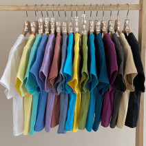 T-shirt S. M, l, average size Summer 2021 Short sleeve Crew neck Self cultivation have cash less than that is registered in the accounts routine commute other 30% and below 18-24 years old Korean version Solid color