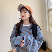 Sweater / sweater Spring 2021 Average size Long sleeves routine Socket singleton  routine Crew neck easy commute routine stripe 18-24 years old 30% and below Korean version other