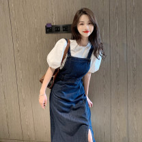 Dress Summer 2021 S,M,L longuette singleton  Sleeveless commute High waist Solid color other other straps 18-24 years old Type A Korean version 30% and below other other