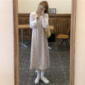 Dress Spring 2021 White coat, floral dress Average size longuette Two piece set Long sleeves commute V-neck High waist Broken flowers Socket A-line skirt camisole 18-24 years old Type A Korean version 30% and below
