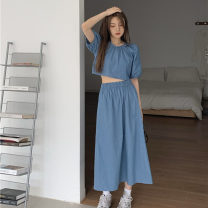 Fashion suit Summer 2021 Average size Top, skirt 18-25 years old 30% and below