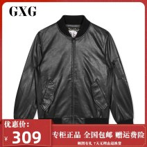 Jacket GXG Youth fashion black 165/S,170/M,175/L,180/XL,185/XXL standard Other leisure autumn Polyester 100% Long sleeves Baseball collar youth Zipper placket polyester fiber More than 95%