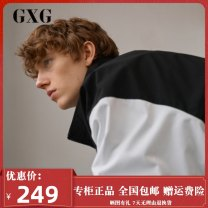 Jacket GXG Youth fashion black 165/S,170/M,175/L,180/XL,185/XXL,190/XXXL standard Other leisure spring GY121571A Polyester 100% Long sleeves Lapel youth routine Zipper placket polyester fiber polyester fiber More than 95%