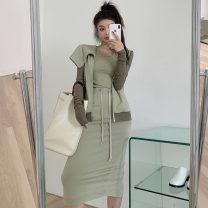 Fashion suit Autumn 2020 Average size Vest, skirt, coat 71% (inclusive) - 80% (inclusive) cotton
