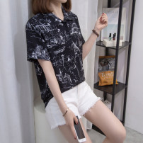 Women's large Summer 2021 White, black L [recommended 90-120 Jin], XL [120-140 Jin], 2XL [140-160 Jin recommended], 3XL [160-180 Jin recommended], 4XL [180-200 Jin recommended] shirt singleton  commute easy moderate Socket Short sleeve routine Three dimensional cutting routine Z6892 Other / other