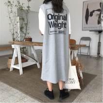 Dress Spring of 2019 Average size Miniskirt Two piece set Sleeveless commute Crew neck Loose waist other other other Others Other / other Korean version More than 95%