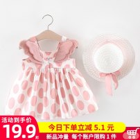 Dress Red, orange, pink with hat, yellow with hat, red cherry, yellow dot bow, yellow love bow, cherry yellow, radish orange female Other / other 80cm,85cm,90cm,100cm Other 100% summer princess Skirt / vest Broken flowers cotton A-line skirt 1011、1019