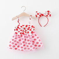 Dress Orange, red, green female Other / other 80cm,90cm,100cm,110cm Other 100% summer lady Skirt / vest other cotton A-line skirt 12 months, 6 months, 9 months, 18 months, 2 years, 3 years, 4 years