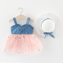 Dress White, pink female Other / other 80cm,85cm,90cm,100cm Other 100% summer princess Strapless skirt Broken flowers Splicing style 12 months, 6 months, 9 months, 18 months, 2 years, 3 years, 4 years