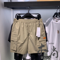 Casual pants Peacebird Youth fashion B2GCB2577 S,M,L,XL,2XL routine Shorts (up to knee) Other leisure easy Micro bomb B2GCB2577 summer youth tide 2021 middle-waisted Straight cylinder Overalls Pocket decoration No iron treatment Solid color cotton