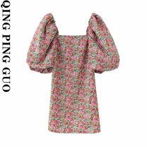 Dress Summer 2020 Decor XS,S,M,L singleton  street Socket 18-24 years old Europe and America