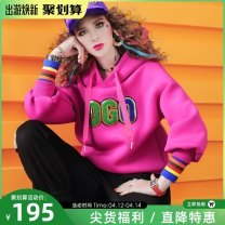 Sweater / sweater Spring 2021 S,M,L,XL Long sleeves routine Socket singleton  routine Hood easy street routine letter 96% and above maialika cotton Embroidery, three dimensional decoration cotton Cotton liner Europe and America