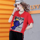 T-shirt Red spot (delivery within 48 hours), red order S,M,L,XL Summer 2021 Long sleeves Crew neck easy Regular routine commute other 96% and above 30-34 years old other Letters, solid color maialika Sticking cloth